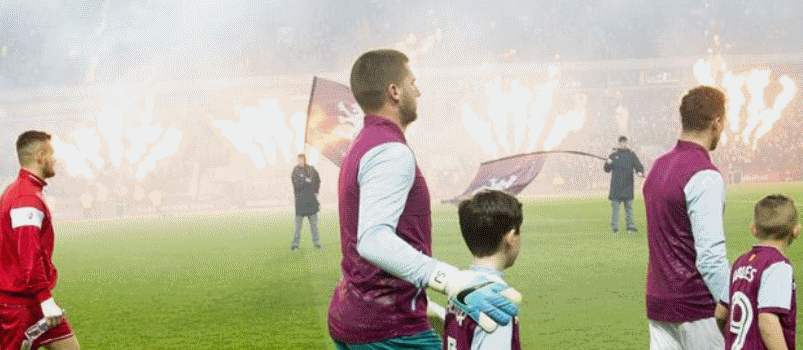 Image of Aston Villa Pyro and Flames Pitchside
