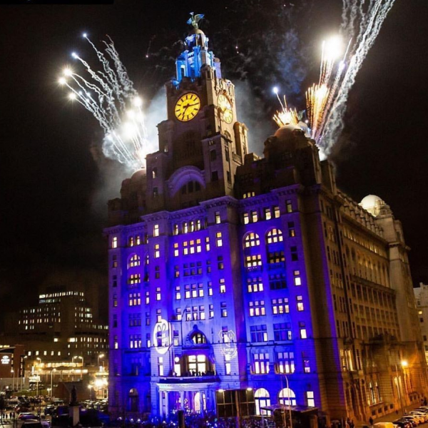 Royal Liver Building - Blue Christmas